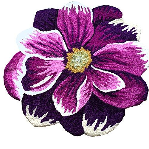 CASOFU® Pastoral Stil Bereich Teppich, Poppy, Violett Blumen rutschfest Fußmatte - 10 X 14 Bereich Teppich