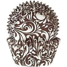 Muffinförmchen, mit Motivaufdruck in braun, 50 Stück - Papierbackförmchen