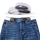 KOBWA Gürtel ohne Schnalle Damen Männer Elastischer, Keine Schnalle Gürtel für Hosen und Kleid Keine Schnalle, Kein Bauch, Kein Stress,Damen und Herren Gürtel