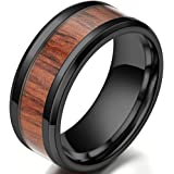 Jude Jewelers 8mm Stainless Steel Wood Pattern Classic Wedding Band Ring