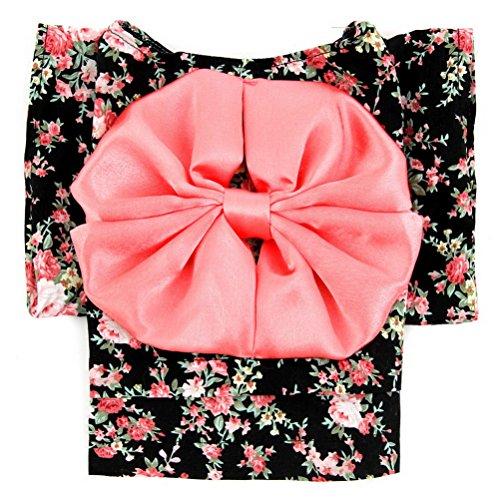 zunea Kleiner Hund Kleidung für Spring Kimono Hundemantel Muster Floral Hund Kostüm elegante Band (Boy Band Halloween Kostüme)