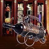MIWENPaket Post Continental Wine Rack Luxus Haus Mode Wohnzimmer Weinschrank Wein Regal Kreative Eisen Ornamente Weinflaschenhalter 1 Flaschen 750ML (33 * 9 * 22cm)