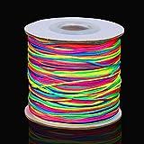 130 m Elastische Schnur Regenbogen Perlenschnur Perle String Nylon Handwerk Schnur für Perlen Auffädeln Schmuck Machen, 1 mm