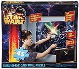 Brigamo 552503 - Star Wars Puzzle als Wandtattoo fürs Kinderzimmer, die Laserschwerter leuchten im Dunkeln!