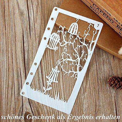 INIBUD Metallic Marker Pens, Satz von 10 Farben für Kartenherstellung DIY Fotoalbum Gebrauch auf irgendeiner Oberfläche-Papier Glas Kunststoff Keramik - 6
