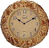DW HCKK M&T Une Horloge Murale idyllique Salon Arts Réveil Réveil Quartz Mute Les Mauvaises Herbes d'émulation