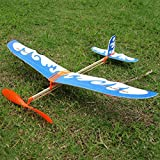 Random Color L : Rubber Band Airplane Novel Jet Glider Model Airplane Boys' Toys Learning Mane Science Toys Assembly Plane Educational Toys