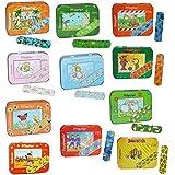 Kinderpflaster im Pflasterbox aus Metall verschiedene - Motive für Mädchen und Jungen - Pflaster für Kinder und Erwachsene - Kinderpflaster