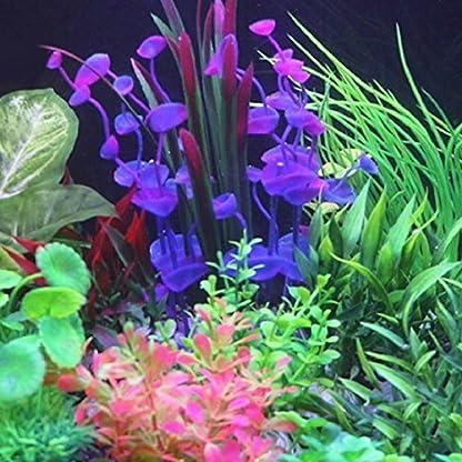 PANYTOW Aquarium Plastic Plants Fish Tank Imitation Sea Urchin Water Aquatic Grass Artificial Plants Decoration for… 6