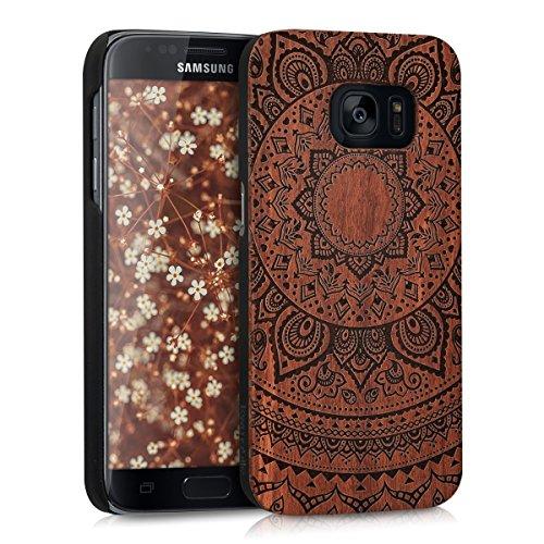 kwmobile Samsung Galaxy S7 Cover - Custodia Protettiva in Legno - Back Case Posteriore per Smartphone Samsung Galaxy S7