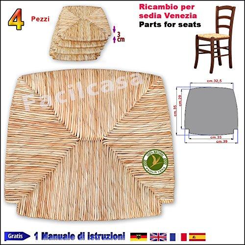 Seduta fondo paglia di riso paesana facilcasa ricambio per sedia venezia art.20r