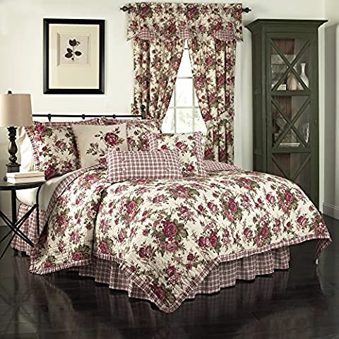 Waverly 14770beddkngtsn Norfolk réversible Couette Collection de thé, taches, King