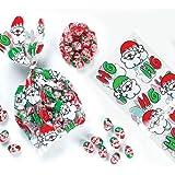 Mini-sacchetti regalo e nastri a tema Babbo Natale (confezione da 20)