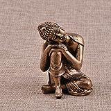 petsola Thailändische Sakyamuni Buddha Miniatur Meditationsstatue Handgemalte Harz Skulptur - #13