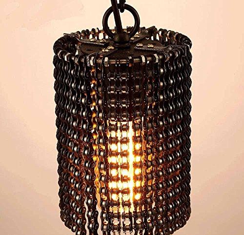SSBY Moda Vintage Lampadario in metallo industriale, bici di caffetterie bar eoliche industriali ingranaggi lampadario di catena ,