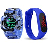 NEO VICTORY LED Digital Blue Dial Silicone Bracelet Boys Kids Watch (Combo Pack of 2) 2021 Latest Watches for Boys