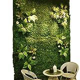 Yw-Grass ball Muro di Recinzione Verde Artificiale Recinzione della Parete Protezione della siepe Copertura vegetale 1m × 1m,B