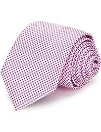 XIANGUO Cravate pour homme à petits carreaux cravate simple décontracté élégant pour costume