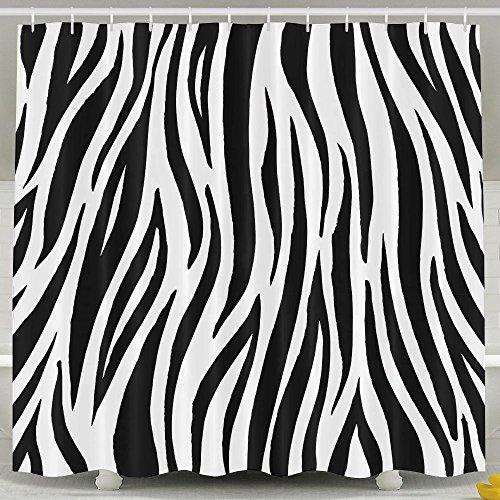 Pengyong Creative Schwarz weiß Zebra Print schimmelresistente Stoff Vorhang für die Dusche für Badezimmer, Wasser, Standard-Repellant 152,4x 182,9cm (Vorhang-set Zebra-print Dusche)