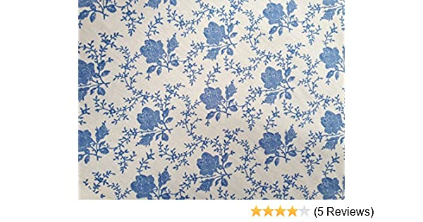 BLUE small pink yellow FLORAL 100/% COTTON poplin material craft bunting dress