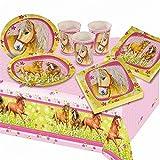 Party-Set Pferde, 19 teilig für 6 Kinder - Mädchen