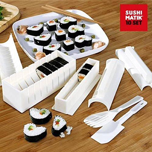 Appetitissime Matik Moldes para Sushi, Blanco, 21x15.1x8.4 cm, 8 Unidades