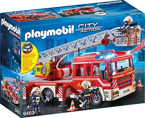 feuerwehr playmobil 5362 PLAYMOBIL 9463 Spielzeug-Feuerwehr-Leiterfahrzeug