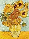 1art1 50713 Vincent Van Gogh - Stillleben Mit Sonnenblumen, 1888 Kunstdruck 80 x 60 cm