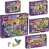 Lego Friends Freizeitpark 6er Set 41127 41128 41129 41130 41133 30399 Spielspaß + Raketen-Karussell + Hot-Dog-Stand + Großer Freizeitpark + Autoscooter + Bowling - sofort lieferbar!