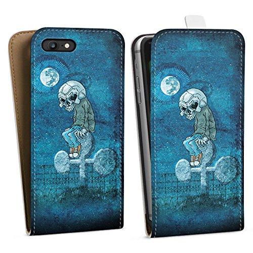 Apple iPhone X Silikon Hülle Case Schutzhülle Poker Skull Death Downflip Tasche weiß