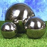 Edelstahlkugeln poliert 3 Stück je 1x Durchmesser 13cm, 18cm, 27cm