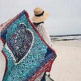 BKPH Strandtuch Sonnenschutz Schal Damen Schal Dual-Use-Frühling und Herbst Ethno-Stil Tourismus Schals Innen Wandbehang, Blue