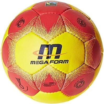 Megaform Fairtrade–Balón de balonmano–amarillo/rojo