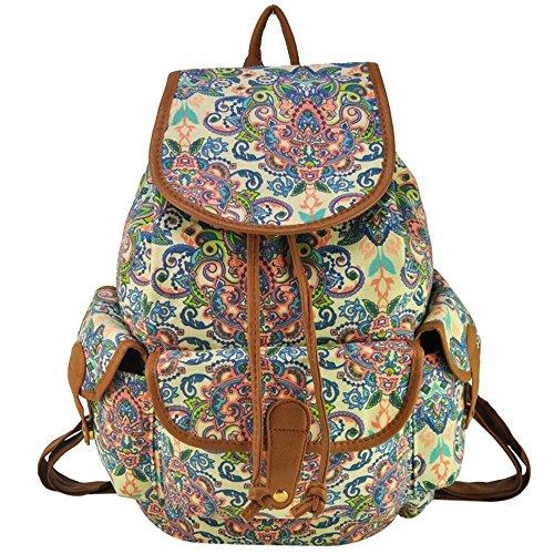 Mädchen-Damen-Freizeit-Rucksack Tier Printed Bag Reiserucksack 15#