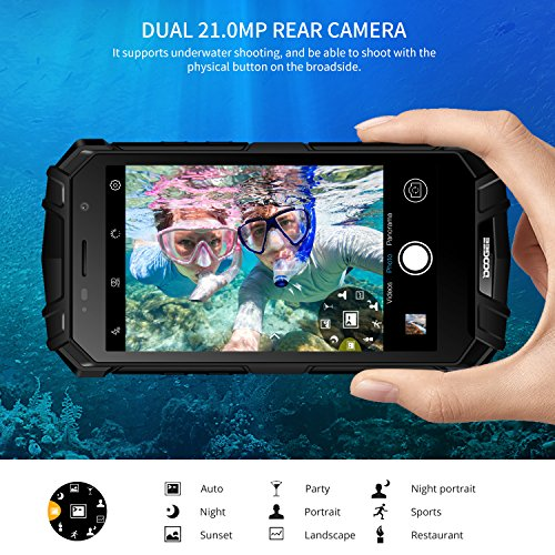 DOOGEE S60 IP68 Smartphone libre - Impermeable Antipolvo Antigolpes 4G Android 7 0 Nougat Rugged M  vil libre  5 2 HD  Helio P25 Octa-core  6GB RAM 64