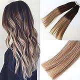 """Magic Hair Legend 18"""" PU Hair Expensions (T2/6) P (T2/24) # diritto naturale dei capelli umani marrone scuro e marrone chiaro Mashup extension per capelli di buona qualità 20PCS/pacchetto"""