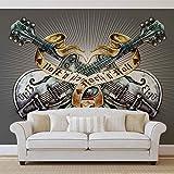 Gitarren Rock Roll Heavy Metal - Wallsticker Warehouse - Fototapete - Tapete - Fotomural - Mural Wandbild - (1083WM) - L - 152.5cm x 104cm - VLIES (EasyInstall) - 1 Piece