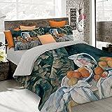 Italian Bed Linen Juego De Funda Nórdica Verde/Naranja/Hielo Cama 100/110 (250 x 200 cm + 2/52 x 82 cm)