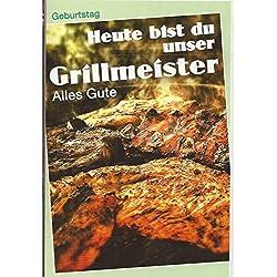 Geburtstagskarte Grillmeister - Heute bist du unser Grillmeister - sk516273