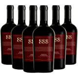888 Primitivo di Manduria DOC, Vino Rosso, Ottimo Vino per Carni Arrosto e Grigliate, Ideale con Piatti di Selvaggina, Formag