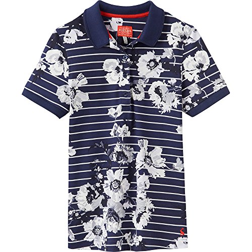 Button Down Cotton Polo Shirt (Joules Womens/Ladies Trinity Soft Cotton Print Patterned Polo Shirt)