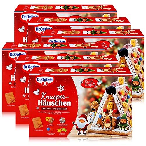 Dr.Oetker-Knusper-Häuschen Lebkuchenhaus Advent Weihnachten 403g (6er Pack)