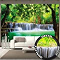 Fototapete Wasserfall Feng Shui Wandbild Dekoration Natur Dschungel Landschaft Paradies Urlaub Thailand Asien Wellness Spa Relax | Foto-Tapete Wandtapete Fotoposter Wanddeko by GREAT ART (336 x 238cm) von GREAT ART - TapetenShop