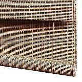 Tende a rullo Tenda A Rullo con Mantovana Piatta, Paralume in bambù con Bordo Nastrato, Schermo for La Privacy della Casa for Studio, Balcone, Cucina (Color : Flat Valance, Size : 94×205cm)