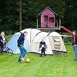 SKANDIKA Toronto 8 - Tente familiale dôme - 8 Personnes - 590x590 cm - Bleu/Beige Mixte