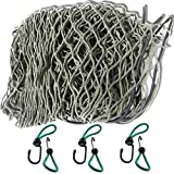iapyx® Anhängernetz, 125 x 210 cm, dehnbar auf 200x 300 cm inkl. Expanderhaken zur Befestigung, (Oliv Plus)