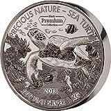 Power Coin Turtle Schildkröte Precious Nature Palladium Rhodium 1 Kg Silber Münze 10000 Franken Benin 2018