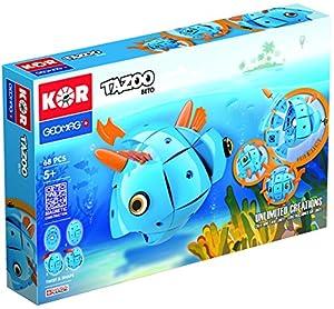 Geomag Tazoo Beto 68 pcs Juego de construcción - Juegos de construcción (Azul, 5 año(s), 68 Pieza(s), Niño/niña, 220 mm, 54 mm)