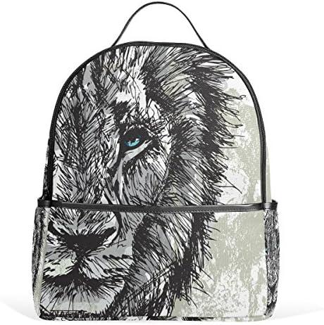 COOSUN Résumé Big Male école African Lion Léger Toile Sac à dos enfants Cartable pour les garçons filles Petit Multicolore B075DDPHFT | Un Design Moderne