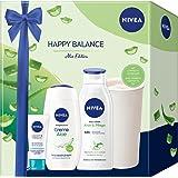 NIVEA Happy Balance Set, verwöhnendes Geschenkset mit Aloe Vera Pflegeprodukten, feuchtigkeitsspendendes Beauty Set mit Pfleg